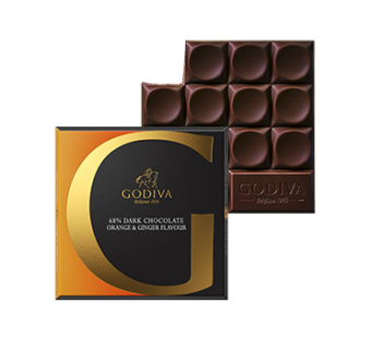 Orange & Ginger Flavour 68% Dark Chocolate